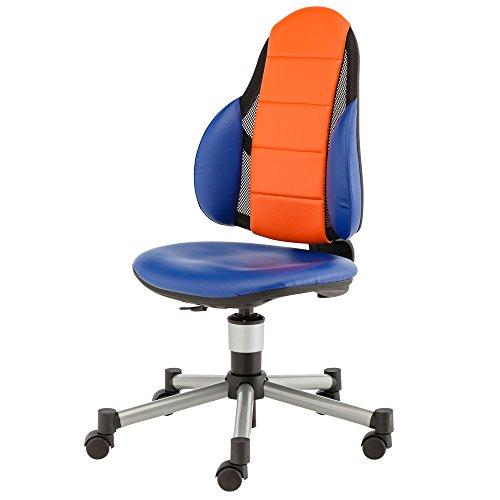 Kettler Drehstuhl Berri Free 06726-018 | Höhenverstellbar | In Blau und Orange | 60 x 44 cm