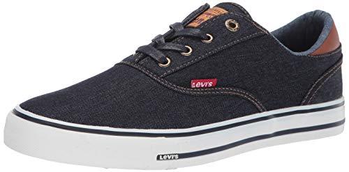 Levi's 518481-72U: Men's Ethan Denim ll Navy/Tan Sneaker (10.5 D(M) US Men)