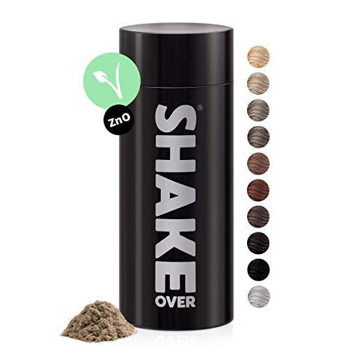 shake over Fibras Capilares vegano, engrosamiento de cabello, microfibras, Hecho en Europa (30g, RUBIO)