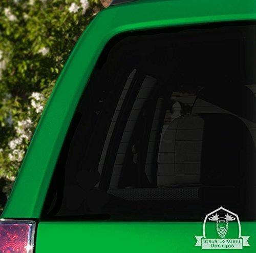 Grain To Glass Designs Irish Lucky Shamrock Vinyl Car Decal - 4' Green