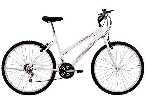 Bicicleta Aro 24 Feminina Life 18 Marchas Branca