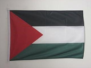 علم فلسطيني مقاس 2 × 3 بوصة للنشاطات الخارجية - أعلام فلسطينية 90 × 60 سم - لافتة 0.6 × 3 قدم محاكة من البوليستر مع خواتم