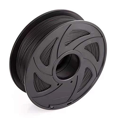 3D Printer Filament 1.75mm 1KG Spool Filament for 3D Printing, Dimensional Accuracy +/- 0.02 mm (Dark Black)