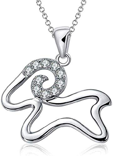 NC110 Necklace 925 Sterling Silver Necklace High End Necklace Women S Zodiac Diamond Pendant Auspicious Year of The Sheep Novelty Jewelry for Women Men Gift