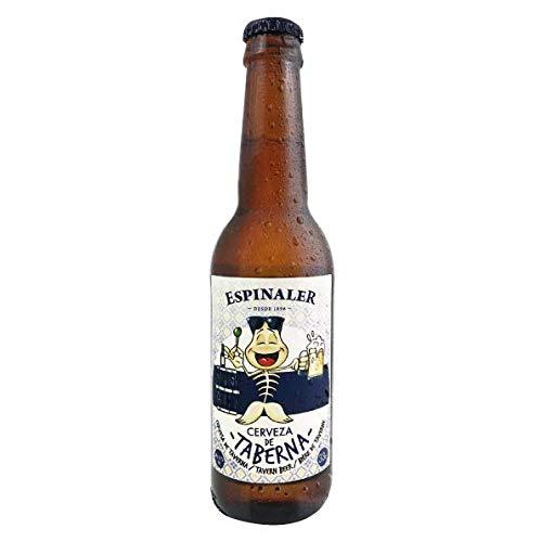 Cerveza Artesana de Taberna Espinaler. Tercio de 33cl. Premium Lager de fabricación artesana. Caja de 24 unidades.