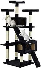 Go Pet Club Cat Tree, 33-Inch by 22-Inch by 72-Inch, Black