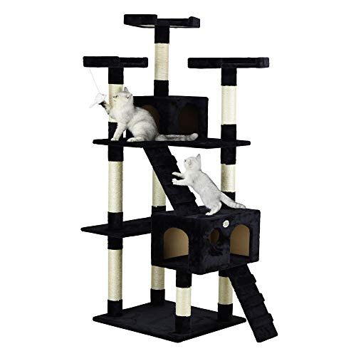 Go Pet Club 72' Cat Tree Condo Furniture - Black