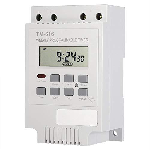 Interruttore Timer Digitale Programmabile 12V Interruttore Timer Intelligente 7 Giorni Interruttore Elettrico Risparmio Energetico per Lampade TV Elettrodomestici Forno (White)
