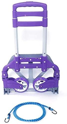 shopping Carro de Compras Carrito Plegable portátil Carrito de Aluminio Plegable Push...
