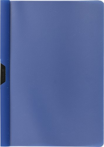 Brunnen 102014030 - Cartellina con clip formato A4, copertina trasparente, in pellicola di polipropilene, colore: Blu