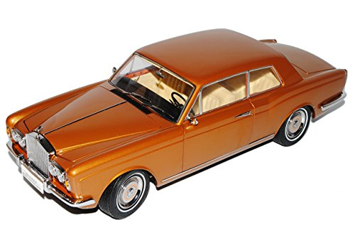 Paragon Rolls Royce Silver Shadow MPW 2 Türer Coupe Linkslenker Braun Gold 1/18 Modell Auto