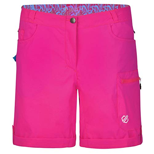 Dare 2b Melodic II Water Repellent Multi Pocket Hiking, Pantaloncini Donna, Cyber Pink, 50 (Taglia produttore: 18)