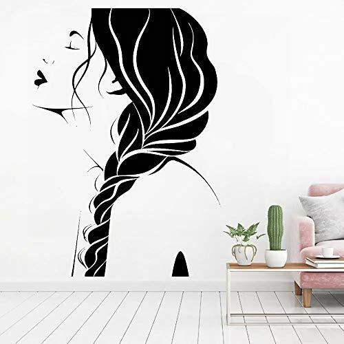 WERWN Salón de Belleza Femenino Creativo Arte DIY TV Fondo Sala de Estar Ventana Vinilo decoración de la Pared