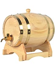 NACK 1.5L Barril de Roble, Dispensador d Barril de Whisky de Madera para Almacenar Vino de Whisky Brandy (Color : Natural, Size : 1.5L)