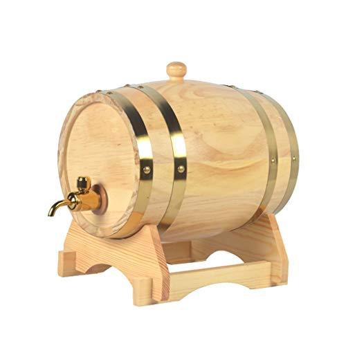 ZSYGFS Barril Roble 1.5L Barril de Roble, Dispensador d Barril de Whisky de Madera for Almacenar Vino de Whisky Brandy (Color : Natural, Size : 1.5L)