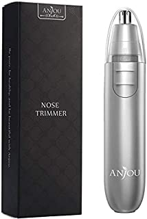 Nose Hair Trimmer for men, Anjou Ear Hair Trimmer with Light Battery Operated Stainless Steel Dual-Edge Blades Facial Hair...