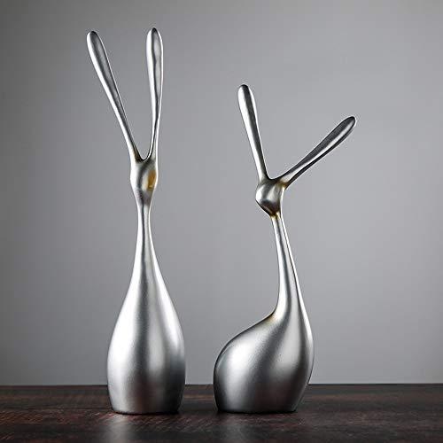 WANGXINQUAN Decoraciones para el hogar, artesanías simples de resina, adornos creativos abstractos, decoraciones de plata