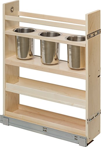 Century Components CASCAN55PF Kitchen Base Cabinet Pull-Out Canister Organizer - 5-7/8
