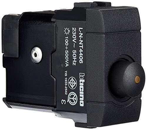 BTicino Living International L4406 Dimmer per Carichi Resistivi, 500 W, 1 Modulo
