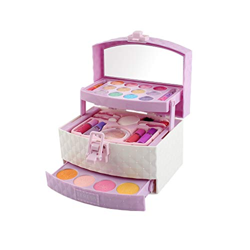Schminkset Mädchen, 12shage Make-up-Set für Mädchen Schminkkoffer Kinder Schminkpalette mit...