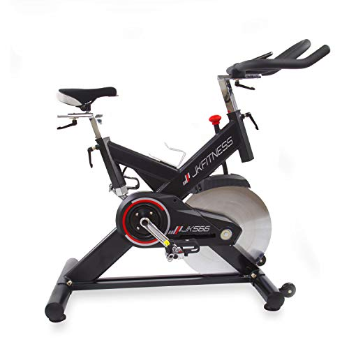 JK FITNESS Bicicletta Indoor Professional jk566, Adulti Unisex, Nero, 129X 62X 115/127cm (lungh.)