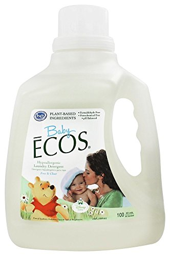 Earth Friendly - Baby Ecos Hypoallergenic Laundry Detergent 50 to 100 Loads Free & Clear - 100 fl....