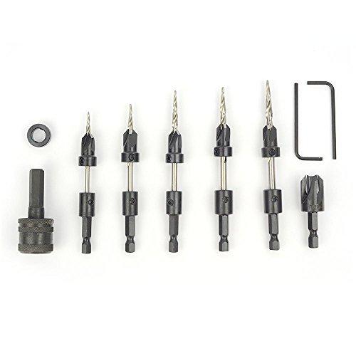 W. L. Fuller 10393010C #10 5-Piece Taper Drill Set