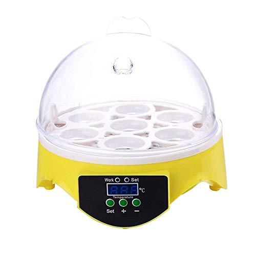 LIXUDECO Incubadora de huevos Mini 7 Incubadora de huevos Incubadora de aves de corral Control digital de temperatura Incubadora de huevos Hatcher para gallina y aves de huevo