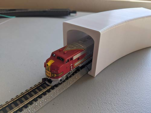 """Tunnel for N Scale Train (2-Pack of 11.25"""" Radius, 30 Degrees)"""