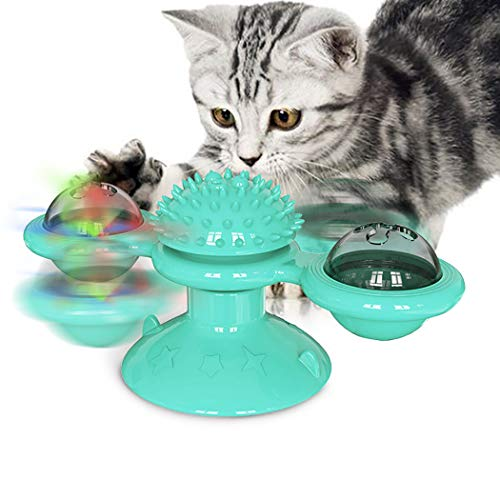 Cat Windmill Toy Set interactieve platenspeler Verlichte Cat Groomer Cat Training Toy