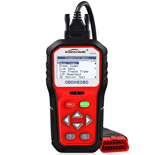 GZCRDZ KW818 Full OBD2 Funktion ODB 2 Diagnosegerät Car Engine Fault Code reader-scan Werkzeug für motorkontrollleuchte mit O2 Sensor Test und On-Board Monitor Test