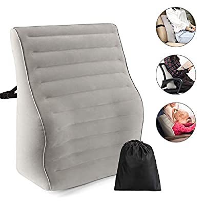 Inflatable lumbar support for office chair - Lu...