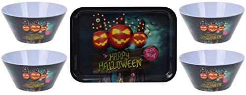 made2trade Halloween Melamin Schale und Tablet Set - Trick or Treat