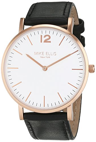 Mike Ellis New York Unisex-Armbanduhr CW1 Analog Quarz Leder SM4564H3