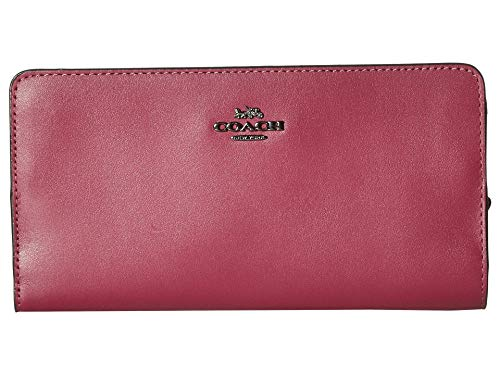 COACH Womens Smooth Leather Skinny Wallet Red Size: One siz