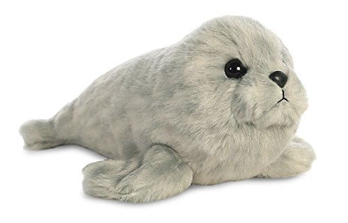 AURORA, 31720, Mini Flopsie Harbour Seal, 8In, Soft Toy, Grey