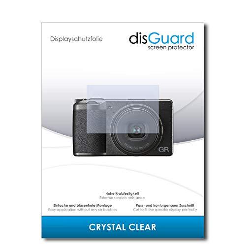 disGuard® Displayschutzfolie [Crystal Clear] kompatibel mit Ricoh GR III [2 Stück] Kristallklar, Transparent, Unsichtbar, Extrem Kratzfest, Anti-Fingerabdruck - Panzerglas Folie, Schutzfolie
