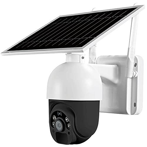 4G / WIFI Cámara de seguridad inalámbrica al aire libre, solar con batería solar, foco / IR Visión nocturna Pan / Tilt 2 Way Audio Micro SD Tarjeta / Almacenamiento en la nube (WiFi) para la orilla de