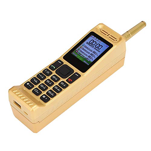Vintage Retro Brick Cell Phone Mobile Phone, Four Card Four Standby Quad-Band 2G Retro Bluetooth New Classic Old Mobile Phone, 2G GSM 850/900/1800/1900Mhz (Gold)