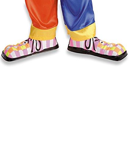 Sur chaussures fluo de clown enfant en plastique cirque ou petite taille adulte 28 cm [5065]