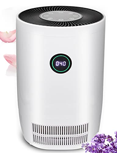 True HEPA Air Purifier for Home Office Living Room Up to 250~400ft², Digital Display Air Cleaner with Air Monitor & HEPA Filter Remove 99.98% Smokes/Dust/Pet Dander During Night Light