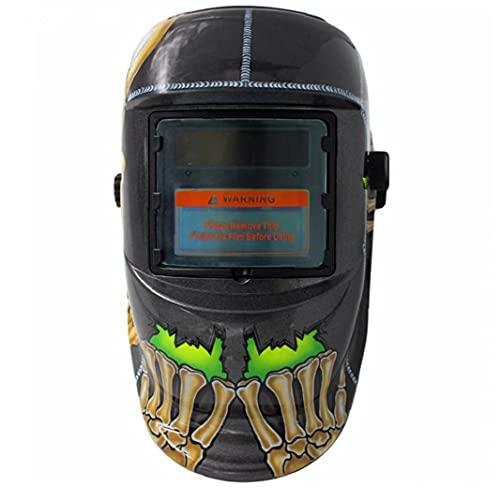 Casco de soldadura Auto oscurecimiento con capucha con energía solar MIG TIG ARC Soldador Face Protección de los ojos Accesorios de engranajes