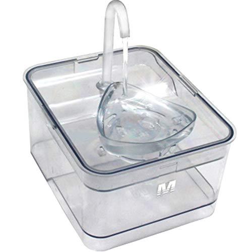 LOVEPET Katzen-Wasser-Brunnen, Ultra-Leise Automatische Zirkulation USB Lade Haustier Trinkbrunnen, Ideal FüR Katzen Und Kleine Hunde Indoor Outdoor, 2.6L, 22 * 18 * 10,5 cm