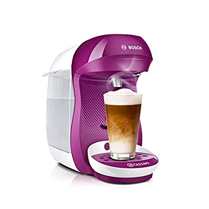 Bosch TAS1001 TASSIMO Happy Cafetera de cápsulas, 1400 W, color rosa
