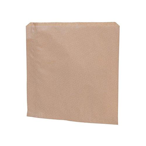 BIOZOYG braune Papierflachbeutel I Snack Taschen Papier 24,5 x 24,5 cm I Recyclingpapier 100% biologisch abbaubar I Snacktüten ungebleicht I Flachbeutel Snacktaschen 1000 Stück
