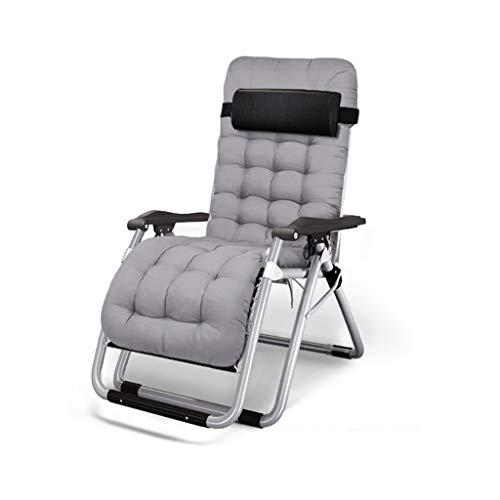 KHL Coussin en Coton léger Super Wide Rembourré Chaise Pliante Loisirs Sieste Lit Arrière Paresseux Canapé Maison Balcon Chaise Grande Chaise de Loisirs Chaise de
