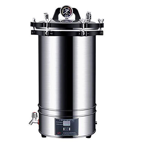 Olla esterilización Vapor Alta presión, 18 / 24L Esterilizador a vapor de...