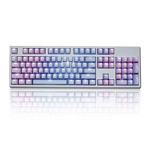 SDKMAH9 regenbogenfarbene LED-Hintergrundbeleuchtung, wiederaufladbar, mechanische Haptik, Tastatur für Computer-Gamer (nur Tastenkappe), nicht null, Wie abgebildet, 104keys(pbt word through)
