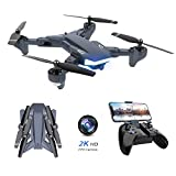 Supkiir WiFi FPV Drone, Foldable RC Quadcopter with 2K HD Camera, Portable Aircraft