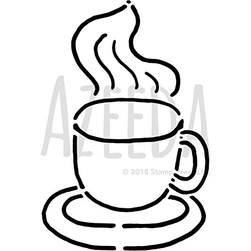 Azeeda A4 'Dampfender Kaffee' Wandschablone / Vorlage (WS00025367)